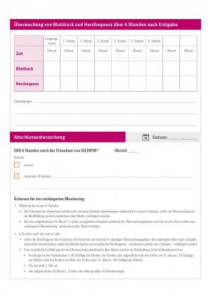 Protokoll der kardiovaskulären Überwachung bei Ersteinstellung auf GILENYA®